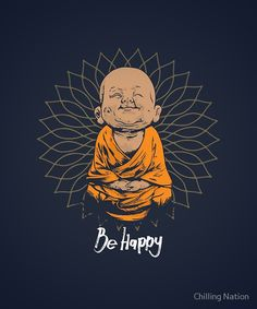 Art Discover Be Happy Little Buddha shirt - cute buddha good vibes and positivity funny t shirt Canvas Print by Chilling Nation Buddha Kunst, Buddha Art, Buddha Doodle, Buddha Decor, Baby Buddha, Little Buddha, Buddha Wallpaper Iphone, Buddha Painting, Cute Cartoon Wallpapers