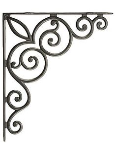 Architectural & Garden Antiques Two Vintage Metal Wall Brackets Decorative Vintage Shelf Hangers Fashionable And Attractive Packages