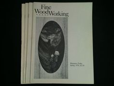 Vintage Fine WoodWorking Magazines Lot 4 1976 Back by RHWTreasures, $29.95