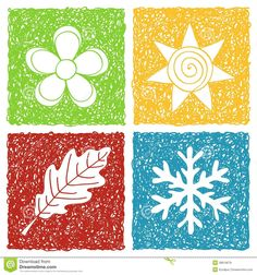 Four seasons Vector Clipart EPS Images. Four seasons clip art vector illustrations available to search from thousands of royalty free illustration producers. Doodle Art Letters, Easy Doodle Art, Doodle Art Journals, Clipart, Four Seasons Image, Doodle Icon, Picture Icon, Art Icon, Stencil Designs