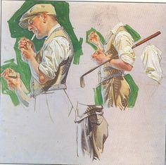"""""""Golf Study"""" by J.C. Leyendecker"""
