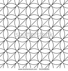 White figures on black background. Texture with ovals and triangles. Ethnic motif. Seamless surface pattern design with circular ornament. Pavement wallpaper. Digital, textile print, web designing.