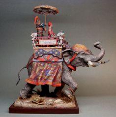 ФрагментыКитайский полководец на боевом слоне XV век