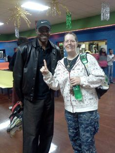 Carl Lewis and Terrie Hurlburt Holiday Skating Greatest Track Star Ever! Delanco New Jersey! Roller Skating Pictures, Carl Lewis, Skating Rink, Jersey Girl, Skate, Track, Bomber Jacket, Guys, Holiday
