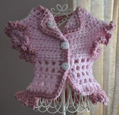 Dog Sweater Handmade Crochet Soft Pink or Baby by ingridsfineart, $38.00