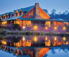 Voted as one of Lonely Planet's Top 10 extraordinary #hotels to stay in 2014, Peppers Cradle Mountain Lodge in #Tasmania. Are you up for some luxury in the wilderness?