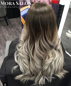 Silver ombré color done by Richard