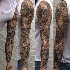 Military Tattoos for Men . Military Tattoos for Men . Pin On Tattoos Skull Rose Tattoos, Skull Sleeve Tattoos, Best Sleeve Tattoos, Tattoo Sleeve Designs, Body Art Tattoos, Sick Tattoo, Badass Tattoos, Cool Tattoos, Tatoos