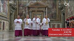 A video collage of the announcement of Pope Francis's election and his first days as out Pope.