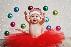 This baby who is super excited for Christmas: baby Christmas photos Toddler Christmas Photos, First Christmas Photos, Holiday Pictures, Babies First Christmas, 1st Christmas, Christmas Ideas, Xmas Photos, Newborn Christmas, Christmas Cards