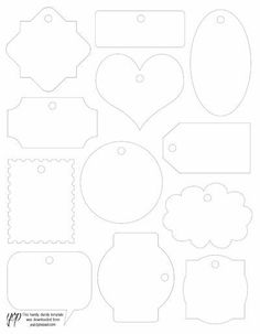 gift tag template Make Your Own Custom Gift Tags With These Free Printable Tag . Printable Tags, Printables, Tag Templates, Diy And Crafts, Paper Crafts, Cricut, Christmas Gift Tags, Fabric Tags, Card Tags