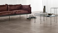 Brix's Brush floor tiles, in four colours and three finishes, are a dead ringer…