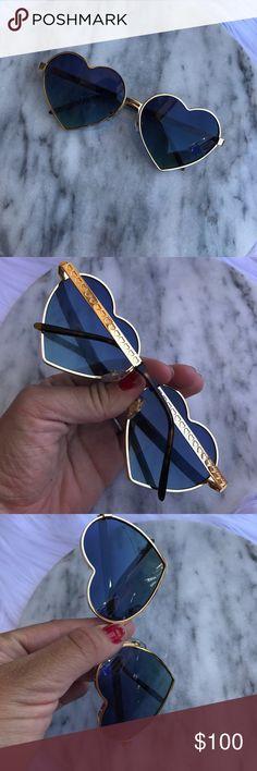 WILDFOX BLUE HEART LOLITA GLASSES SUNGLASSES Cute shades Wildfox Accessories Sunglasses