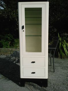 A S Aloe Company Art Deco Doctors Medical Steel Medicine Cabinet With Lights #ArtDeco & This is an art deco style medicine cabinet made of stainless steel ...