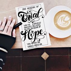 """""""The measure of trial you've endured directly relates to the measure of hope you offer the world. Press on."""" - @rebekahlyons, kindred spirit, author & fellow coffee lover Your struggle is part of your story. Your mess is part of your message. Your trials and adversities that you have lived through and learned from offer Hope to those who are in the struggle right now. Survivors are stunningly beautiful. You wear well the strength from your struggle, beauty instead of bitterness"""