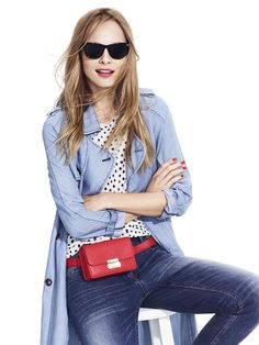 Target's New Collab Is Inspired By Fashion Bloggers #refinery29  http://www.refinery29.com/2015/10/95663/who-what-wear-target-collection#slide-4  Style this red belt bag with a comfy top and chic chambray trench.Target x WHOWHATWEAR Allover Printed Tee, $17.99, available at Target; Target x WHOWHATWEAR Trench in Chambray, $49.99, available at Target; Target ...