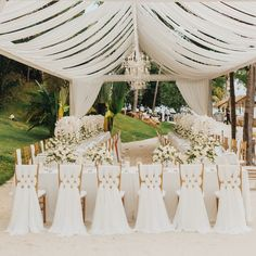 30 Stunning Romantic Backyard Wedding Decor Ideas - What could be more charming than a wedding right in your own backyard? There is nothing quite like the comforts of home, and an informal backyard wedd. Backyard Wedding Decorations, White Wedding Decorations, Wedding Table Centerpieces, Centerpiece Ideas, Centerpiece Flowers, Luxury Wedding Venues, Wedding Events, Wedding Reception, Wedding Ideas