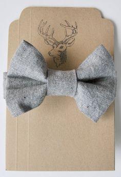 linen bow tie.