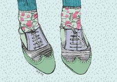 Whimsical illustration by South African illustrator Nicole Long aka Striped Flamingo   via The Design Tabloid