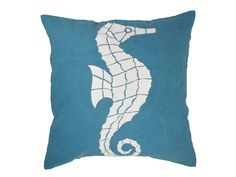 Seahorse Blue Cushion Cover