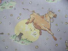 Laura Ashley Cotton Fabric Nursery Rhyme Hey Diddle Diddle