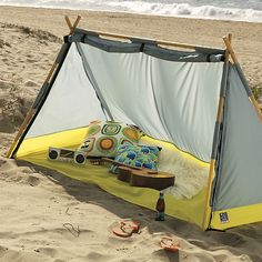 CB2's Lean-To Tent Features a Great Design for On-the-Go Travel #camping #greatoutdoors trendhunter.com