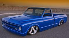 1968 Blue Steel Chevy Pickup