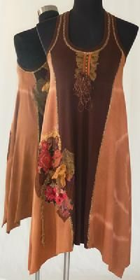 Chocolate and Peach Tye Dye Boho Chic Dress from Seven Waves...SML...$209.99!!!