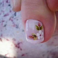 Pedicure Designs, Pedicure Nail Art, Toe Nail Designs, Acrylic Nail Designs, Pretty Toe Nails, Cute Toe Nails, My Nails, Toe Nail Color, Toe Nail Art