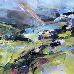 Layering the Land; the versatility of acrylics - Janette Phillips Pastel Landscape, Abstract Landscape Painting, Contemporary Landscape, Watercolor Landscape, Landscape Art, Landscape Paintings, Acrylic Paintings, Oil Paintings, Landscapes