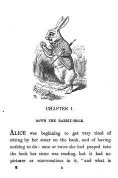 """The classic book """"Alice's Adventures in Wonderland"""" by Lewis Carroll, with illustrations  by John Tenniel."""