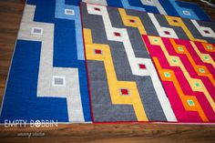 Bleachers Quilt - 3 sizes scaled so all have the exact same design