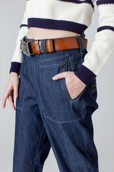 Брюки джинсовые, свободного покроя. в магазине «A. BOX ONE» на Ламбада-маркете