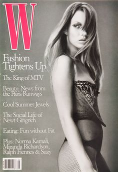 <em>W</em> Magazine's Supermodel Cover Girls - Kate Moss on the cover of W Magazine May 1995