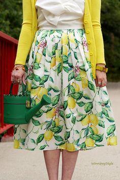 Winnipeg Style, Personal stylist, Chicwish lemon print skirt, Chicwish white…