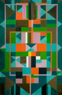 GEOMETRIC ABSTRACTION... I HAVE SEEN THIS WOMAN BEFORE! http://www.bbc.co.uk/arts/yourpaintings/paintings/geometric-shapes-18787