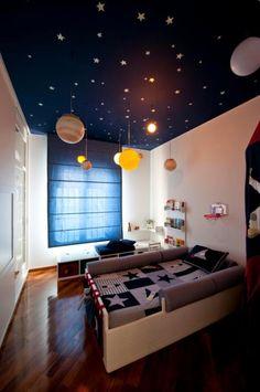 Dormitorios para niños tema espacial …