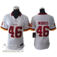Camisetas Nfl Baratas Mujer Morris Washington Rojoskins  46 Blanco €32.9 Camiseta  Nfl fb9d9f9389c