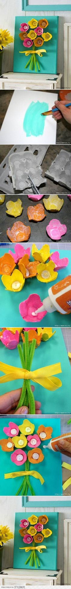 Easter crafts, crafts for kids, egg carton crafts, easy diy crafts Easy Diy Crafts, Crafts To Do, Crafts For Kids, Arts And Crafts, Fun Diy, Mother's Day Projects, Craft Projects, Spring Crafts, Holiday Crafts