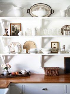 Trina (A Country Farmhouse blog) shelves.