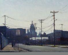 City Wires / Carl Bretzke / oil on linen / Art Size: 20 x 16
