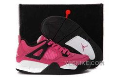 Nike Air Jordan 4 Kids Pink Black Shoes from Reliable Big Discount! Nike Air Jordan 4 Kids Pink Black Shoes and mor Jordan 4, Jordan Shoes For Kids, Michael Jordan Shoes, Air Jordan Shoes, Jordan Retro, Jordan Store, New Jordans Shoes, Kids Jordans, Cheap Jordans