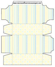 Fundo Amarelo e Azul Bebê - Kit Completo com molduras para convites, rótulos para guloseimas, lembrancinhas e imagens!