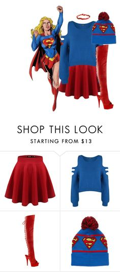 """""""Supergirl fan"""" by loubear223 ❤ liked on Polyvore featuring WearAll, Pleaser and Forever 21"""