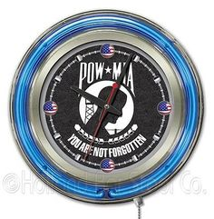 "Holland bar stool us #armed forces 15"" #double neon ring logo wall #clock,  View more on the LINK: 	http://www.zeppy.io/product/gb/2/301857947820/"