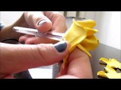 Rosa de E.V.A simples e fácil Sem frisador - Na caneta - YouTube