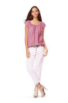 Schnittmuster für Kleid, Bluse 6684 Kleid – Bluse – Kurzbluse – Gummidurchzug Luftiges Kleid und Blusen in zwei Längen mit Raglanärmeln. Der Ausschnitt mit Gummizug lässt eine individuelle...