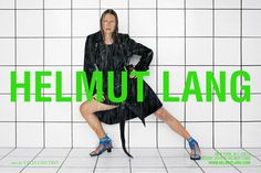 Discover Helmut Lang's Resort 2018 advertising campaign featuring the striking Laura Morgan captured by fashion photographer Talia Chetrit. Daily Fashion, Fashion News, Fashion 2017, Editorial, Slim Suit, Carine Roitfeld, Best Ads, Elle Magazine, Advertising Campaign
