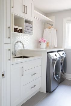 """Excellent """"laundry room storage diy small"""" information is offered on our internet site. Have a look and you wont be sorry you did. Mudroom Laundry Room, Laundry Room Layouts, Laundry Room Remodel, Farmhouse Laundry Room, Laundry Room Organization, Laundry Room Design, Organization Ideas, Storage Ideas, Laundry Room With Sink"""