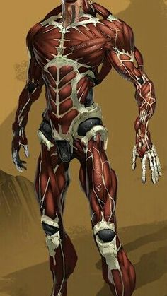 Blackwood's Prosthetic body minus the synthetic skin.